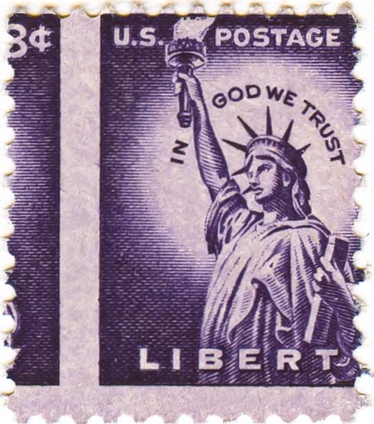 Adanisherrorcollector Scott 1035 S 3 Cents 1954 Stamp Statue Of Liberty