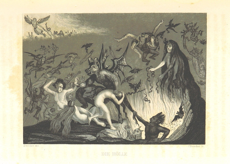 "Illustrations from ""The World Theater, or The Universal World History From Creation To The Year 1840, etc"" by C Strahlheim, 1834-41 - The Hell"