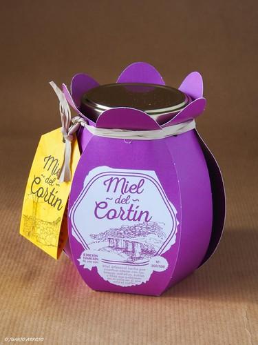Bote de miel, edición especial de Miel Outurelos: miel de cortín
