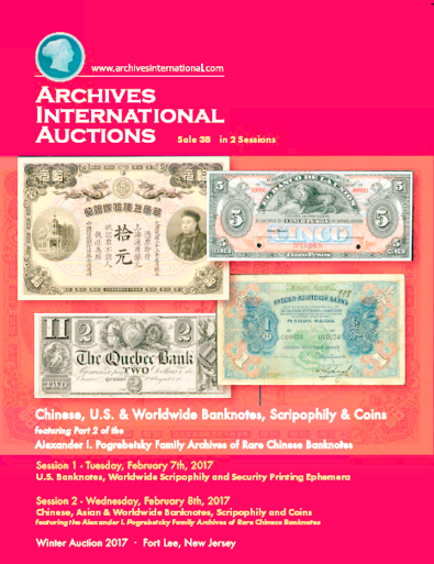 Archives International sale 38 cover