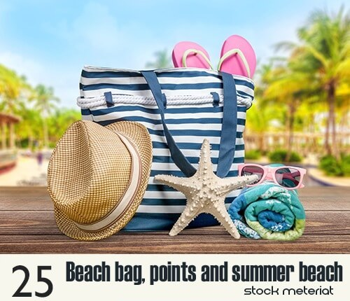 Beach bag, sunglasses and summer beach – free footage