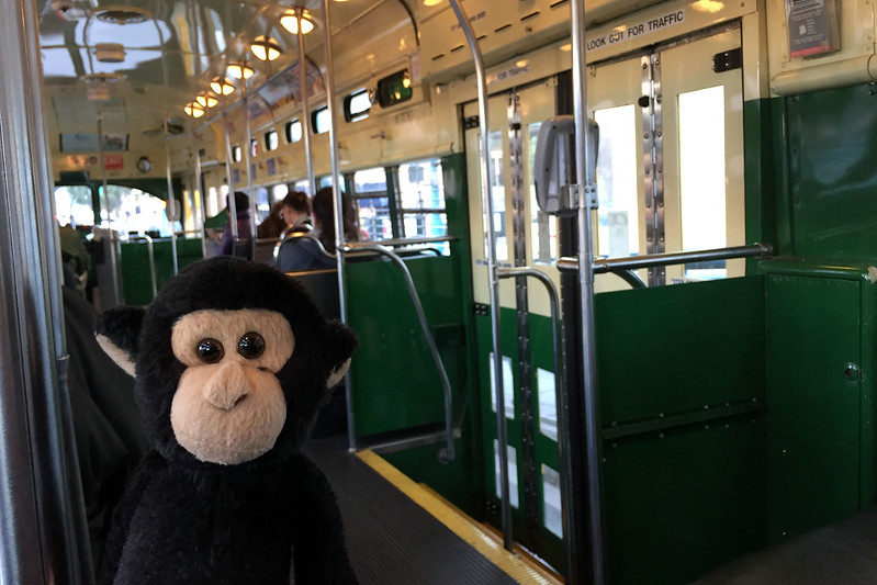 On the F streetcar