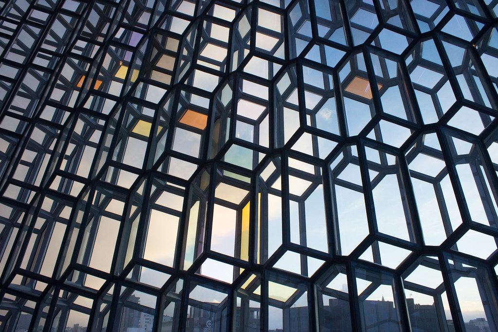 The windows in Harpa, Reykjavik