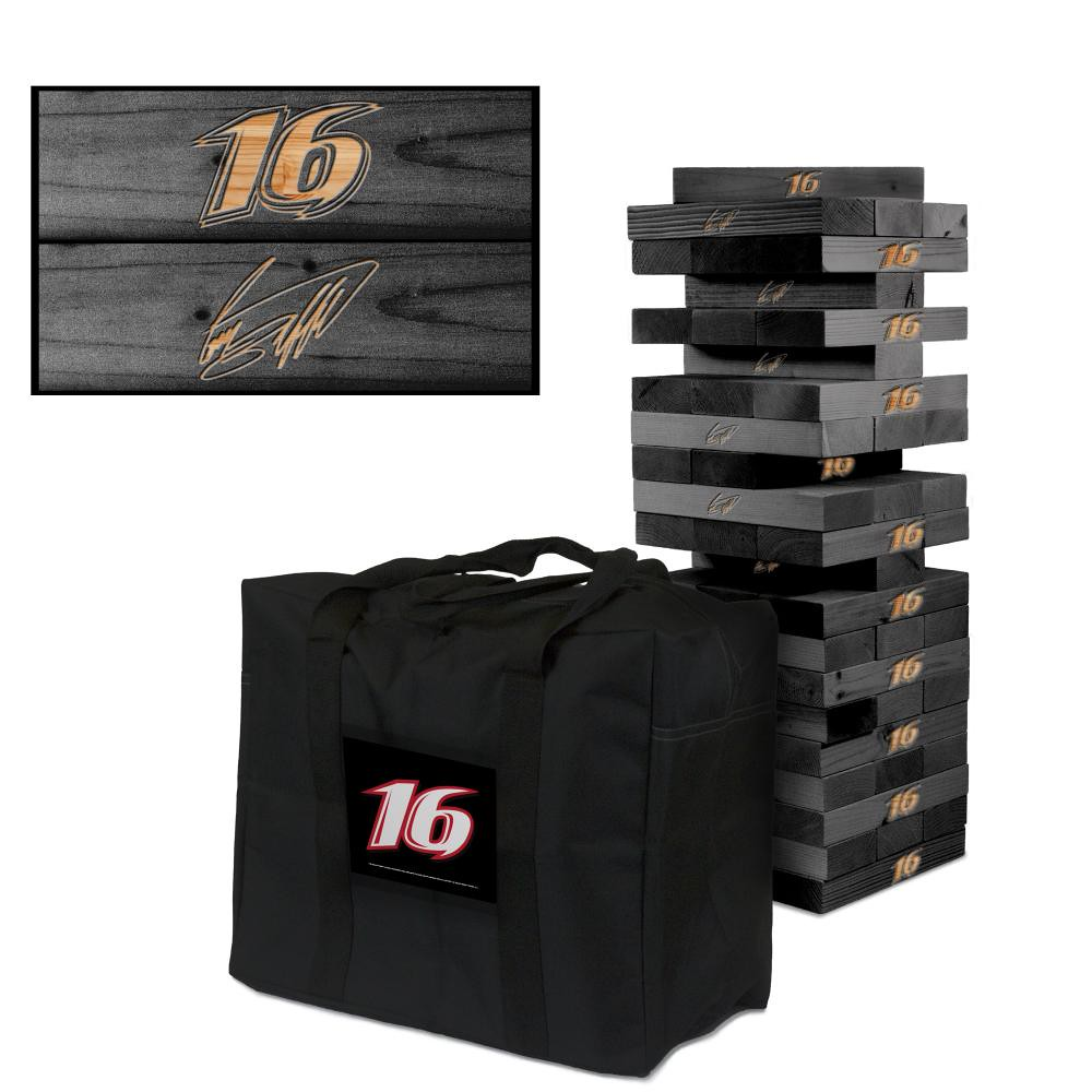 GREG BIFFLE #16 Wooden Onyx Stained Tumble Tower Game