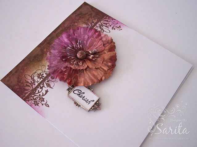 Distress ink border handmade card 1