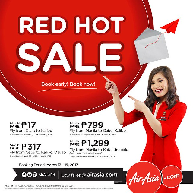 AirAsia Red Hot Sale March 2017