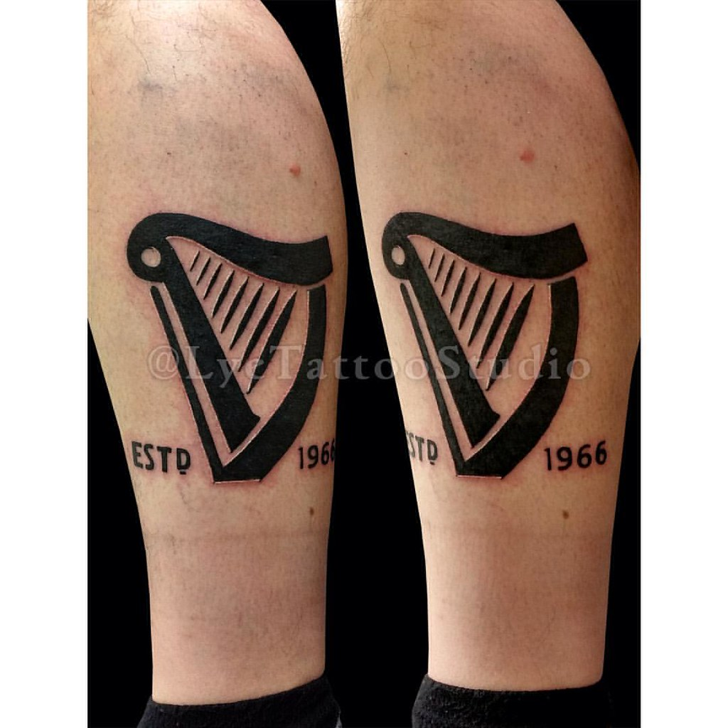 Guinness Harp Tattoo Personalised Guinness ...