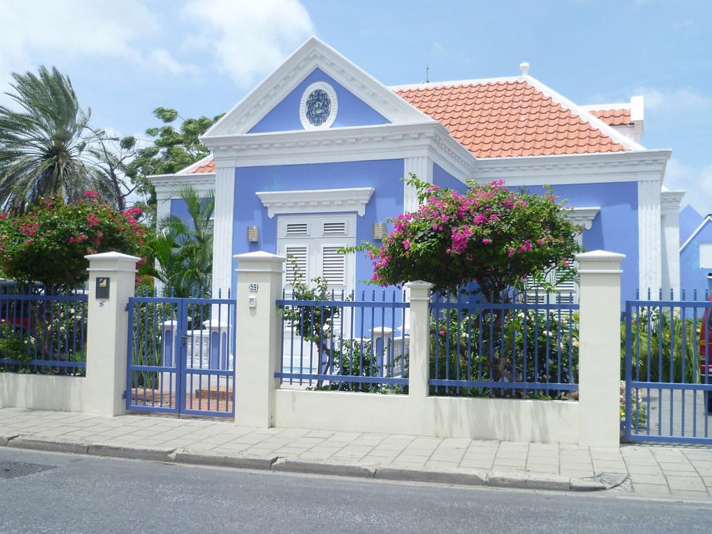 Dutch Colonial House In Caribbean