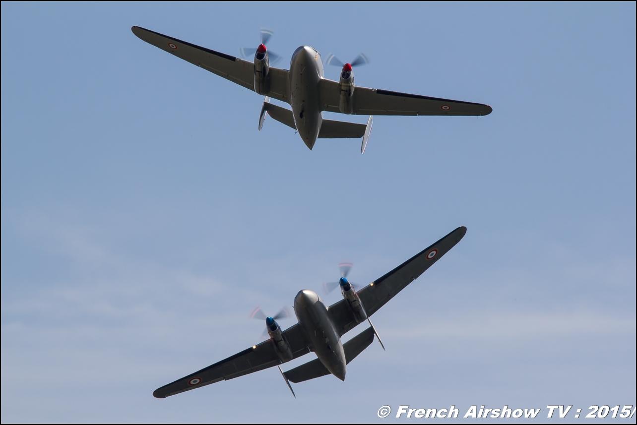 Patrouille Flamant, Dassault MD 312 'Flamant' - F-AZVG ,'Ailes Anciennes de Lyon-Corbas, Feria de l'air 2015,BAN Nimes-Garons, Feria de l'air nimes 2015, Meeting Aerien 2015