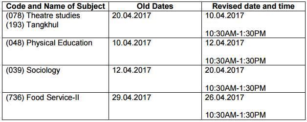 CBSE Board Class 12 revised date sheet