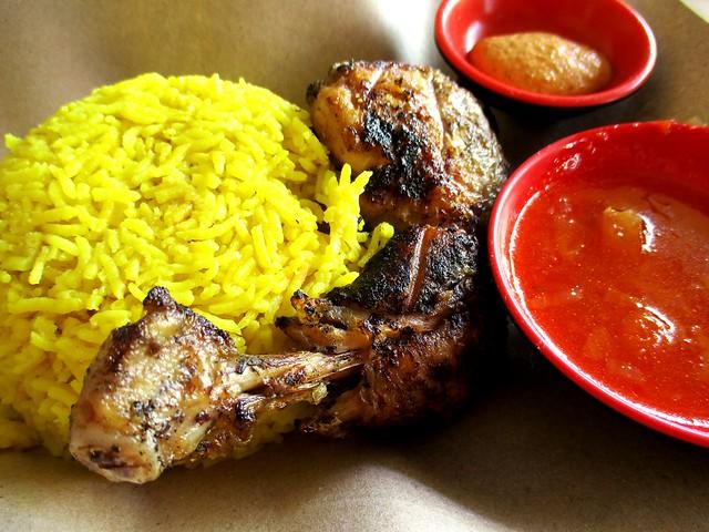 SEDC Hawker Centre Moroccan grilled chicken rice