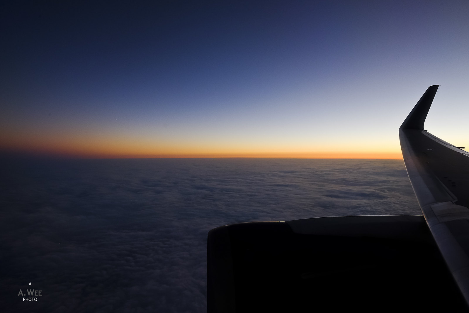 Inflight sunset