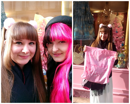 Posing in front of Angelic Pretty