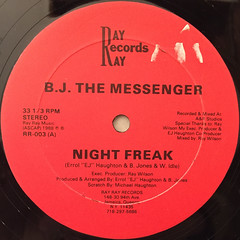B.J. THE MESSENGER:NIGHT FREAK(LABEL SIDE-A)