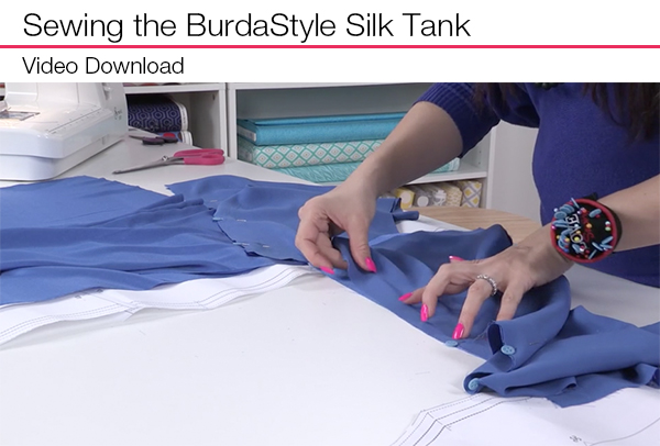 Sewing the BurdaStyle Silk Tank