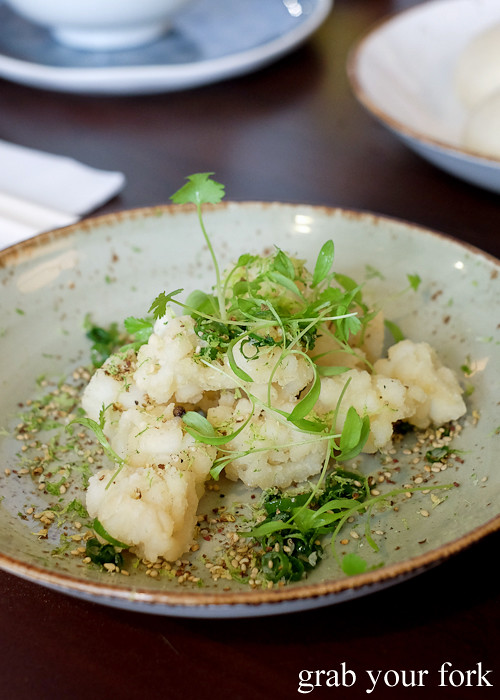 Squid with Szechuan pepper salt and lime at Yan Restaurant in Wolli Creek Sydney