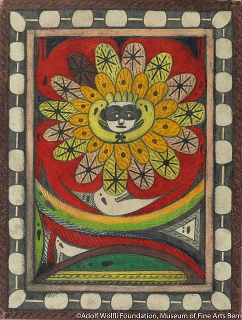 《無聖アドルフ=王座=アルニカ:同./スイス./》(1917年)ベルン美術館 アドルフ・ヴェルフリ財団蔵