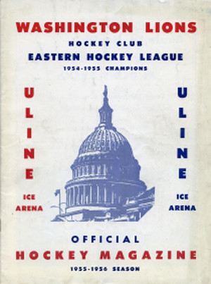 Washington Lions 1955-56 program