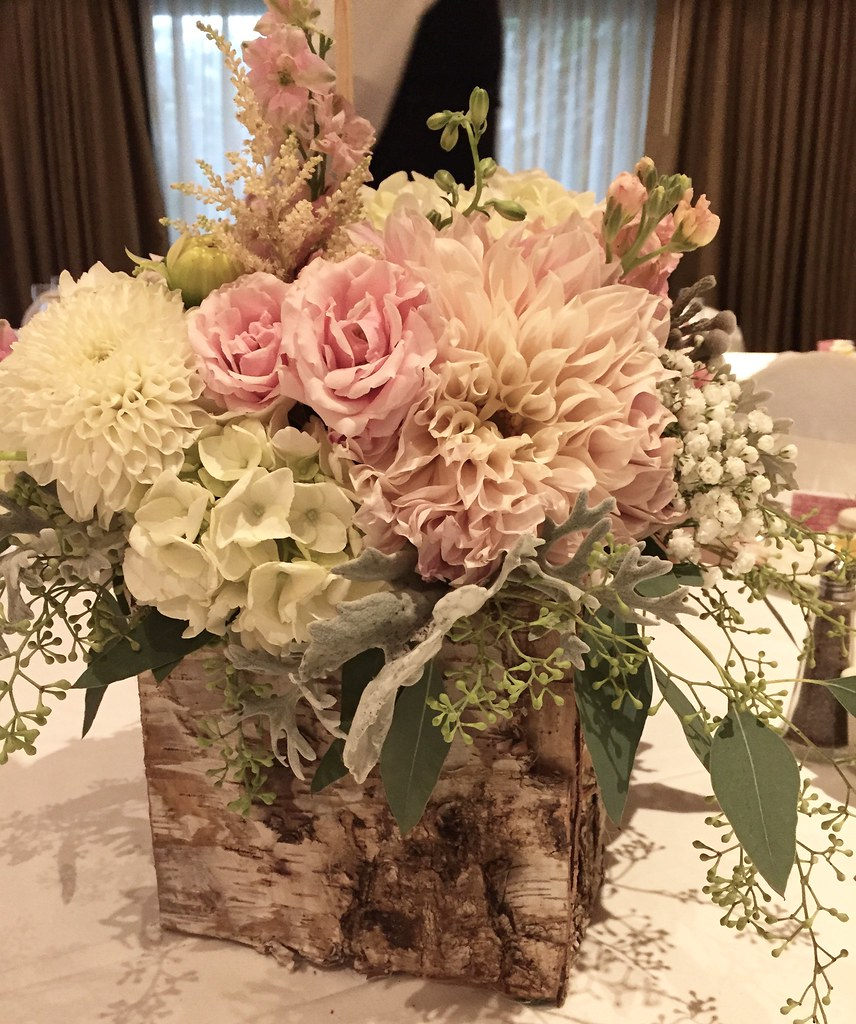 Centerpieces rustic wedding indian lakes resort st cha