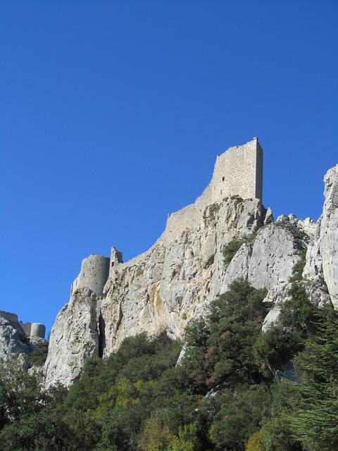 Vista del castillo Cátaro