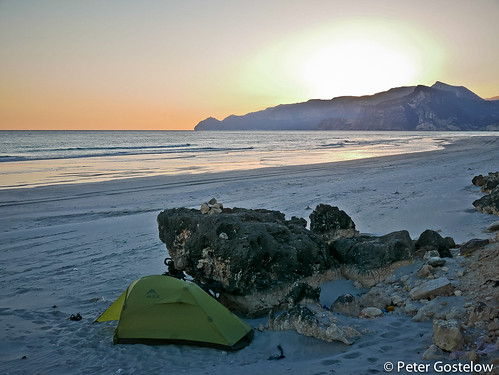 Camping on Mughsal beach | by Peter Gostelow