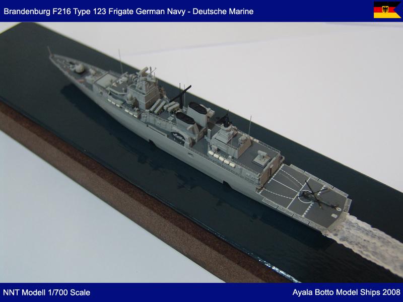 Frégate FGS Brandenburg F215 Type F123 Marine Allemande, NNT Modell 1/700 23646087191_eef86dee7a_c
