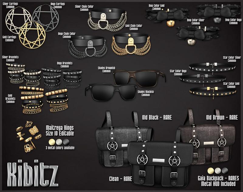 kibitz Gaia accesories set gacha chart