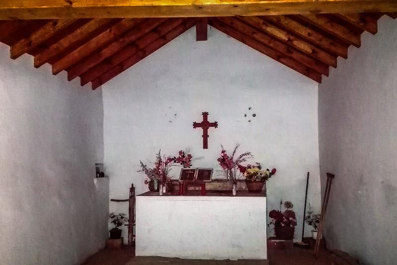 Interior de la ermita de Santes Creus