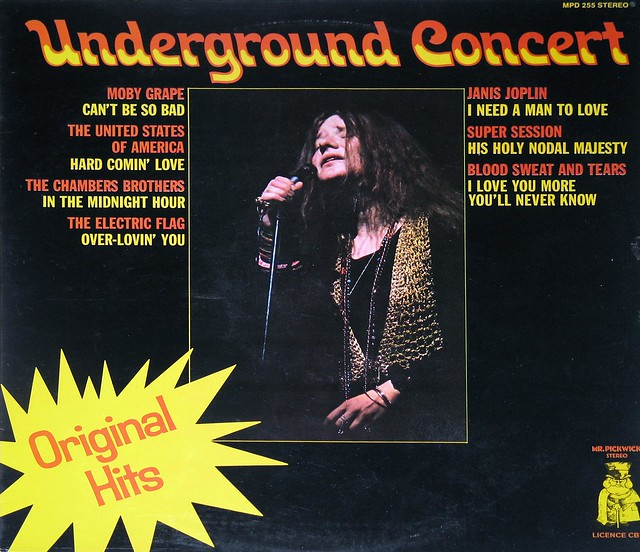 Underground Concert Janis Joplin, Moby Grape, Electric Flag