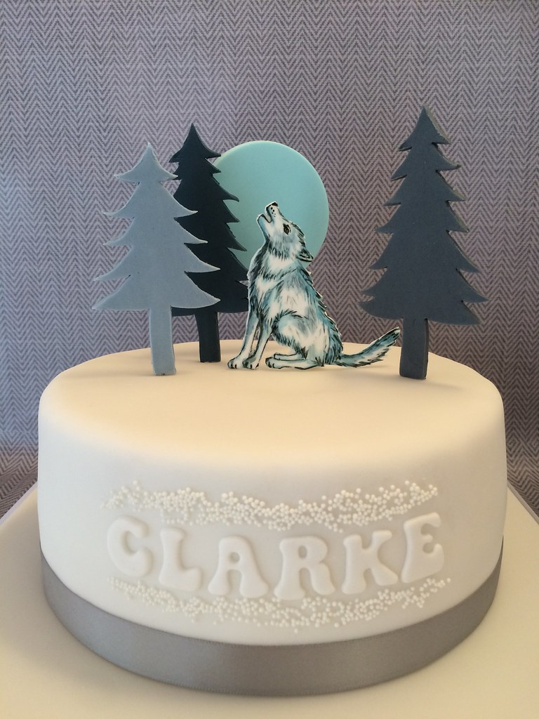 Simple Wolf Birthday Cake By Dotty Cupcakes