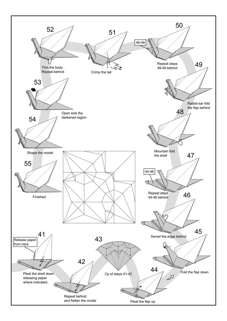 Snail Diagram Page 4 I Am Starting An Origami Diagram Grou Flickr