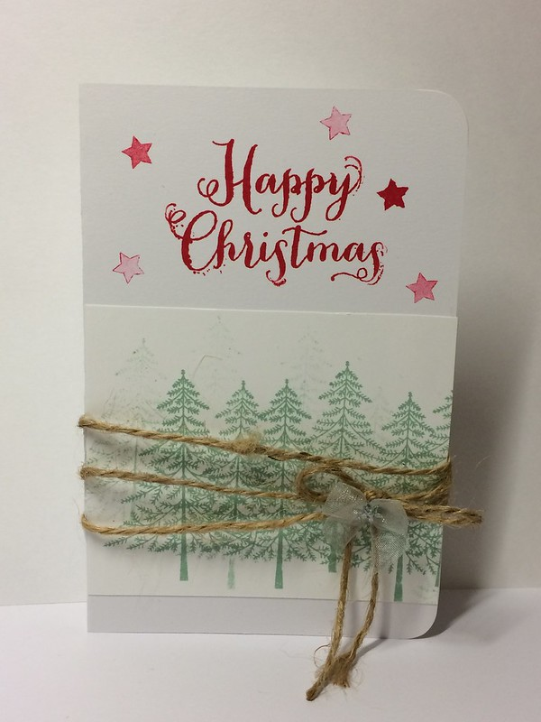 Stampin up Christmas pine tree card by StickerKitten