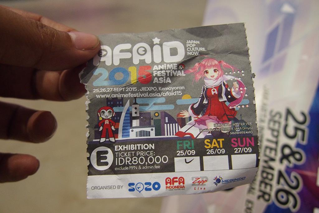Tiket AFAID 2015