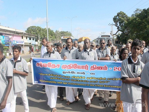 The elders honored by the Department of Social Service in Kilinochchi