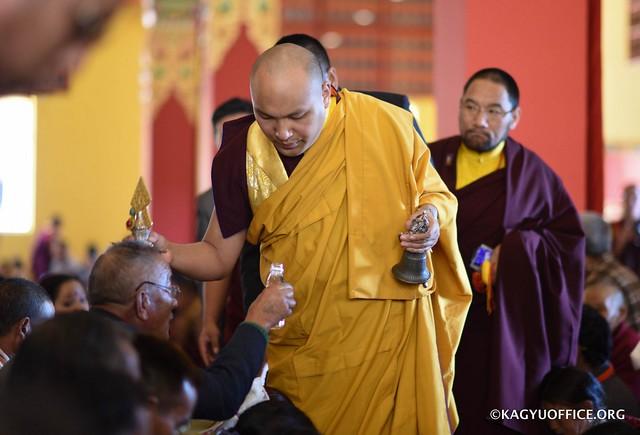 法王噶瑪巴於印度智慧林傳授五尊紅觀音灌頂