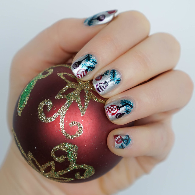 Christmas Ornament Nail Art - Living After Midnite
