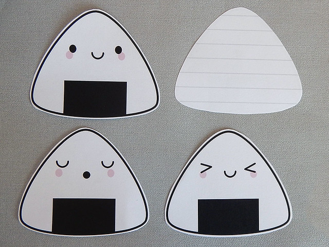 Onigiri Printable Notelets