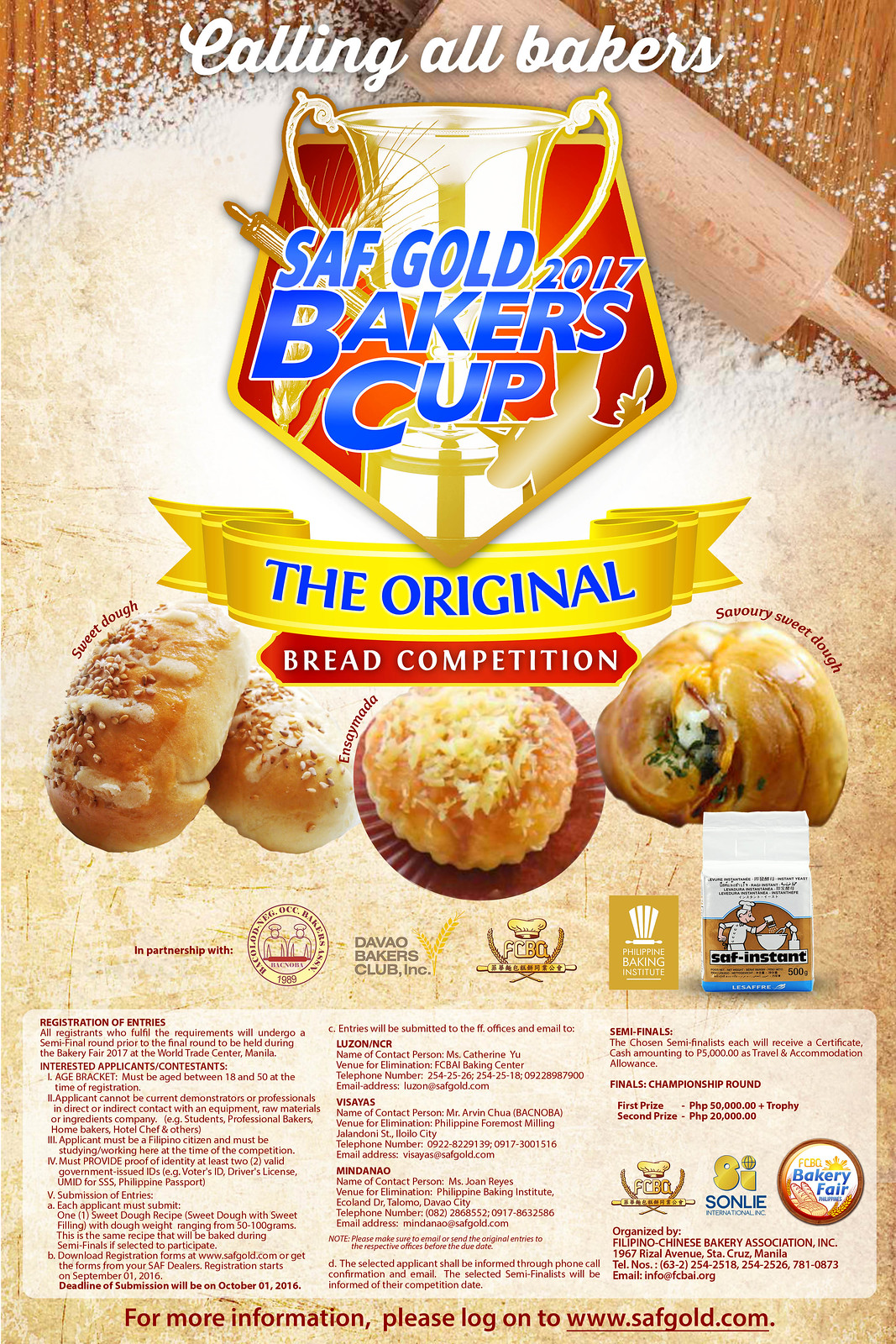 FA SAF Gold Philippine Bakers Cup  2017 Poster (1)