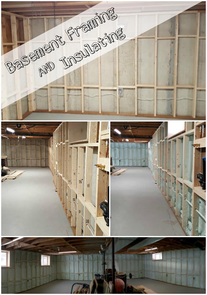 basement framing and spray foam insulation & Turtles and Tails: Basement Wall Framing u0026 Insulating