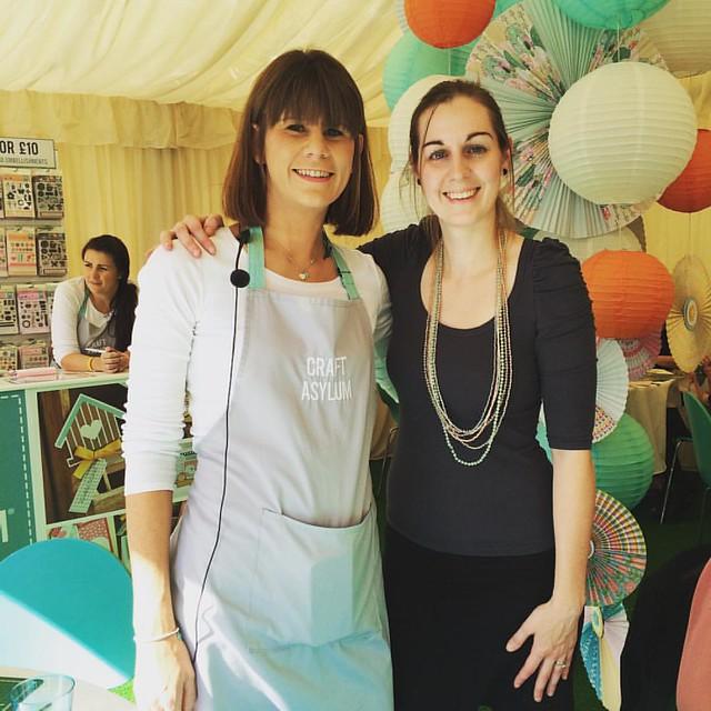 Sarah and Katie at The Handmade Fair, September 2015