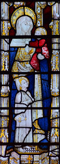 Holy Kinship: St Mary Salome with the young St James and St John (Clayton & Bell, 1973, copy of 15th Century glass at All Souls College, Oxford)