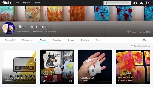 Compte de Llibres Artesans a flickr