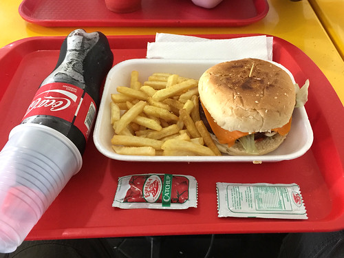 149 - Cheeseburger & Pomme Frites - Busbahnhof Caribe Tours - Santo Domingo