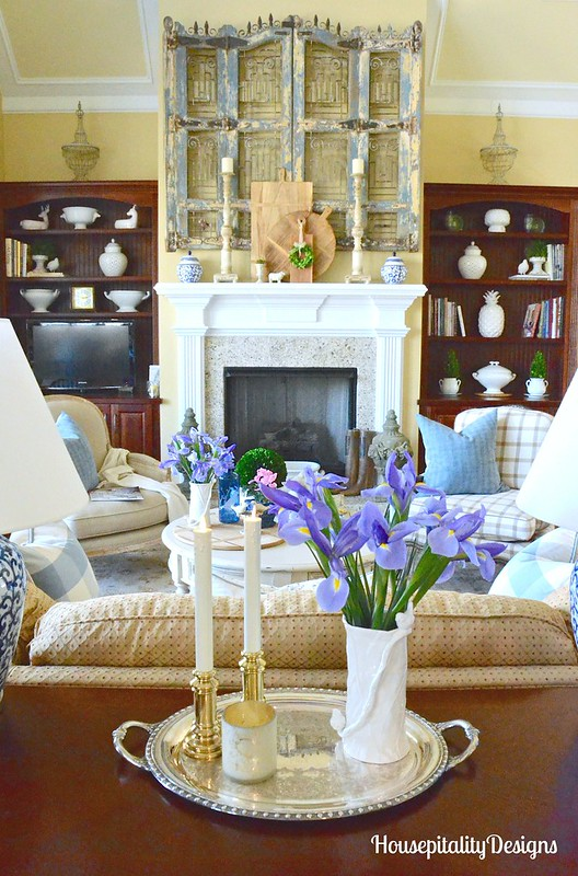 Great Room-Mantel-Spring Refresh-Housepitality Designs