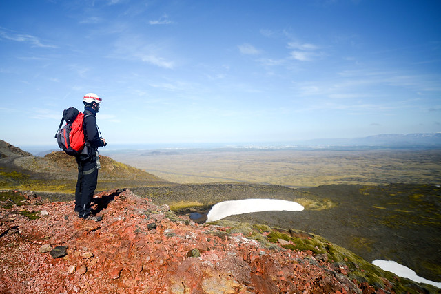 Mirador hacia Reikiavik desde el volcán Thrihnukagigur
