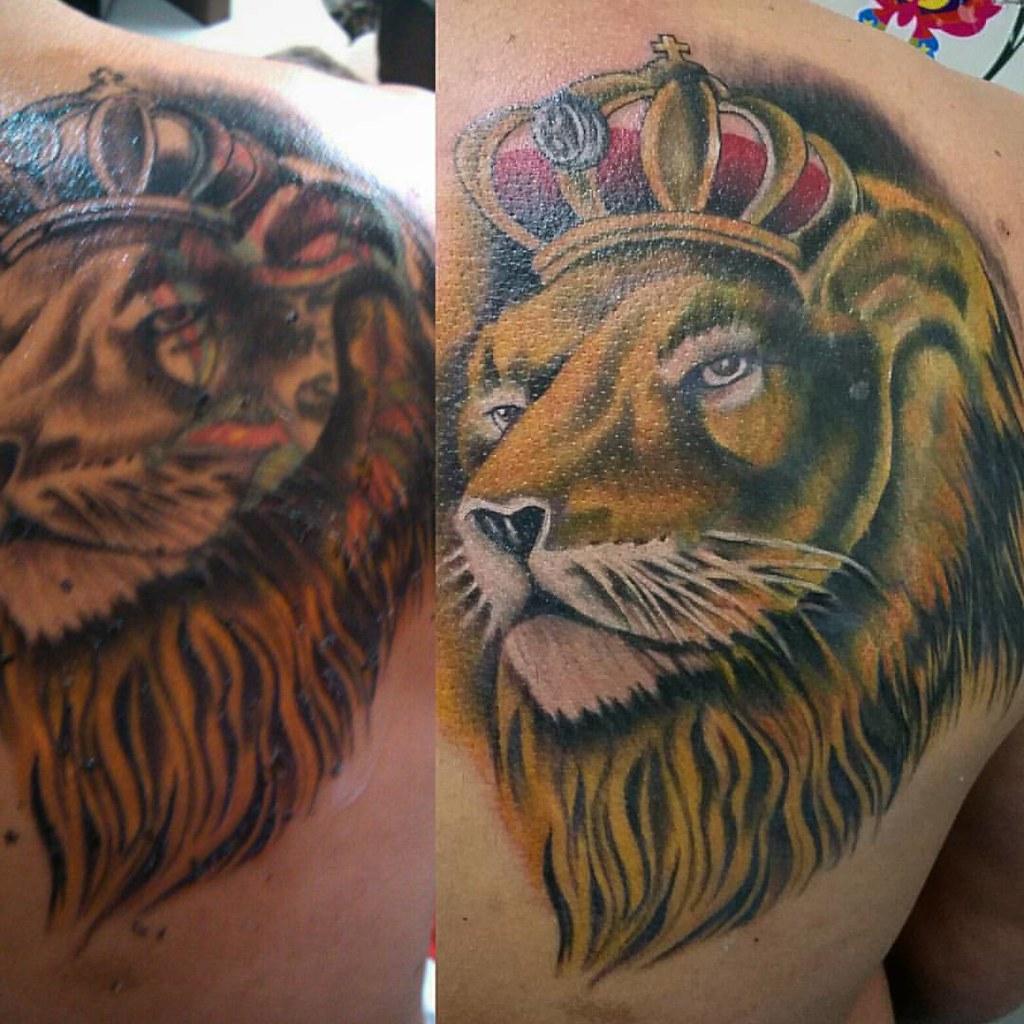 Jb Cover Up Cobertura Leao Lowe Lion Tattoo Tatuagem Flickr