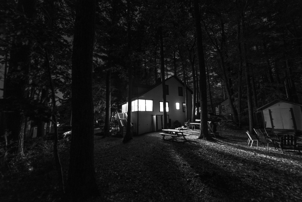 Cabin In Woods >> Bright Camp House in Dark Woods | Eric Kilby | Flickr