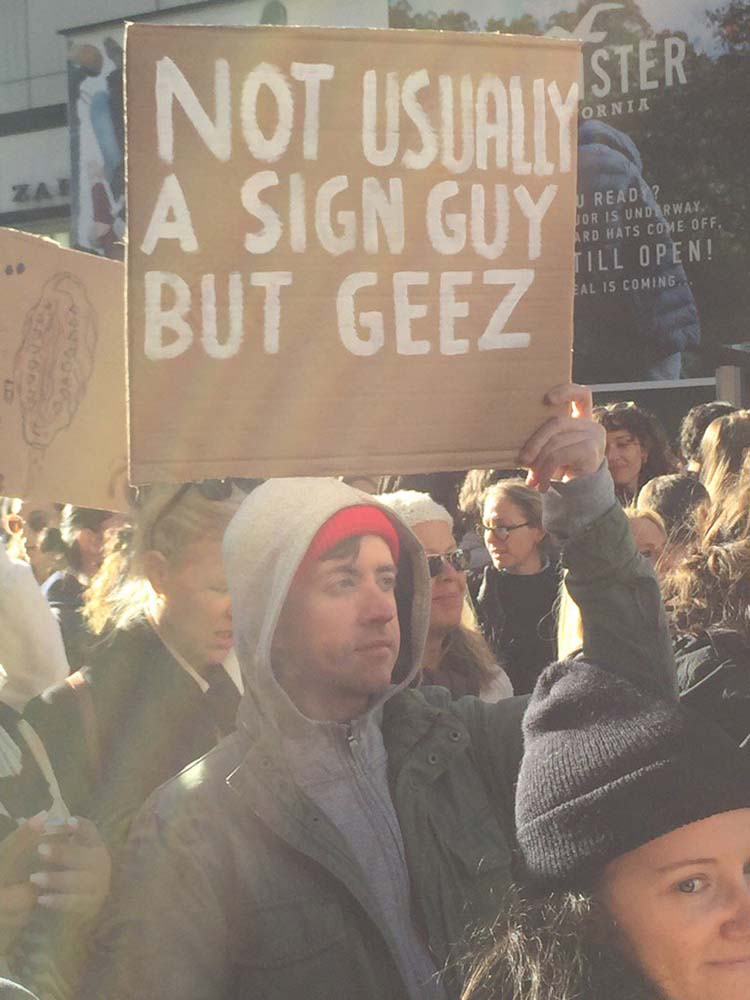 Witty & funny protest signs #28: Geez