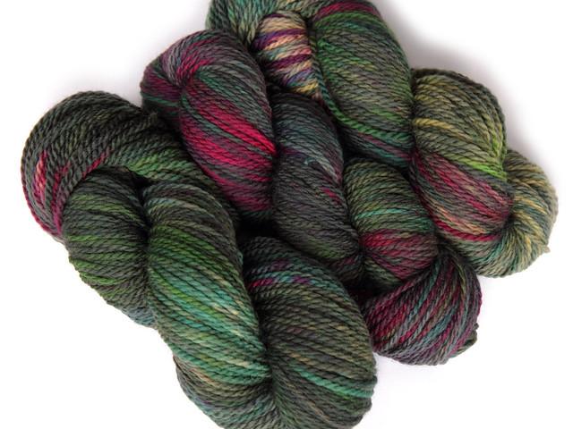 Awesome Aran British BFL hand dyed yarn 'Dark Opal'