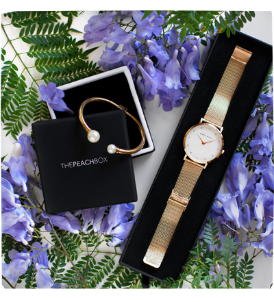 Peach Box Watch and Bangle